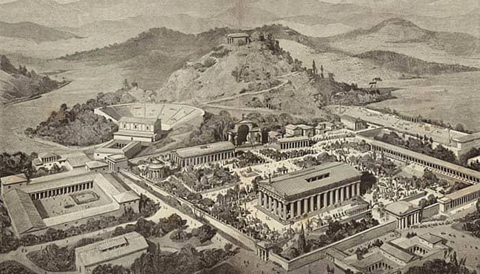 Ilustración de la ciudad de Olimpia.