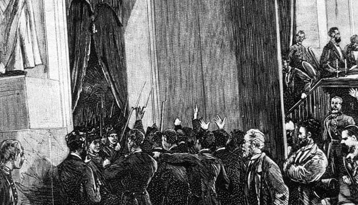Tropas del general Pavía accediendo al Congreso de los Diputados