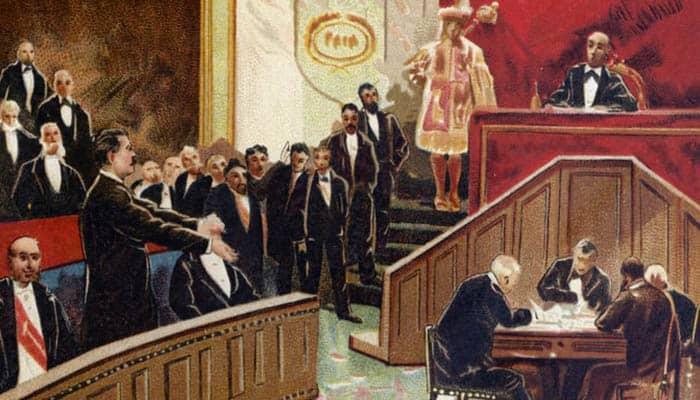 Proclamación en las Cortes de la Primera República Española