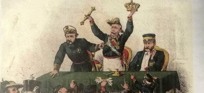 Caricatura de los generales Serrano y Prim