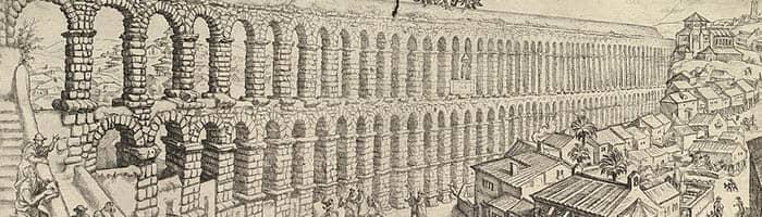 Ilustración del acueducto de Segovia