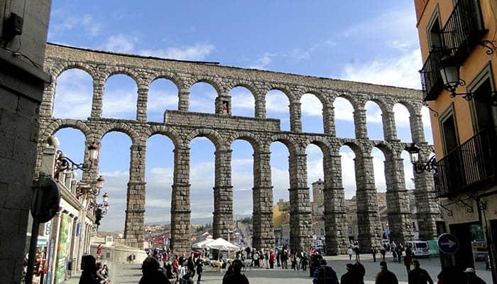 Fotografía del acueducto de Segovia