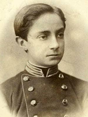 Fotografía de un adolescente Alfonso XII