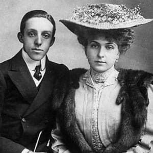 Fotografía de Alfonso XIII y Victoria Eugenia