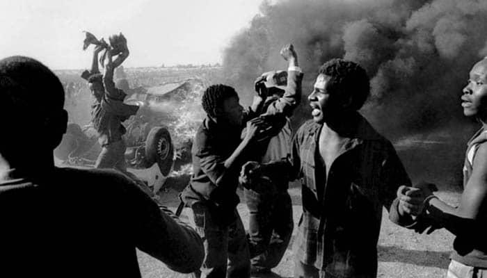 Protestas contra el apartheid en Sudáfrica