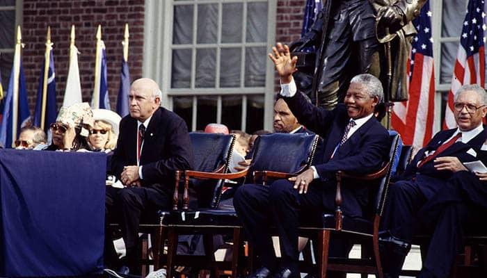 Frederik Willem de Klerk y Nelson Mandela