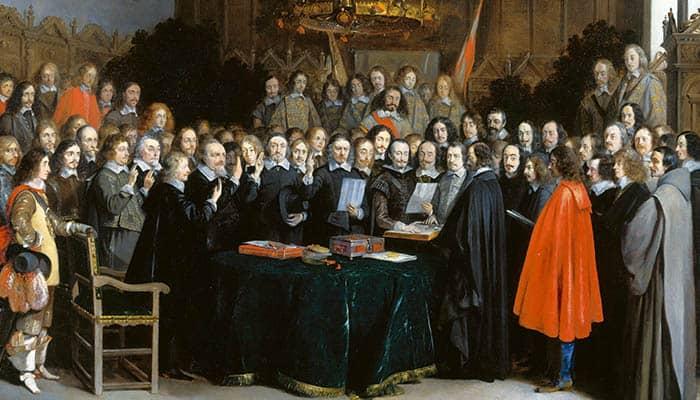 La ratificación del Tratado de Münster en 1648