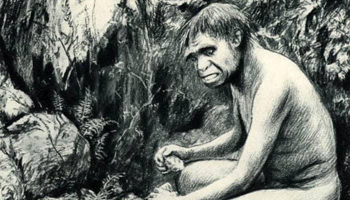 Ilustración de un hombre de la prehistoria