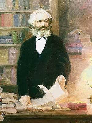 Karl Marx en su estudio