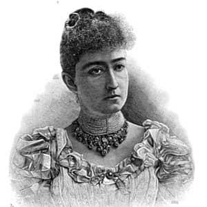 Retrato de Carmen Romero Rubio, segunda esposa de Porfirio Díaz