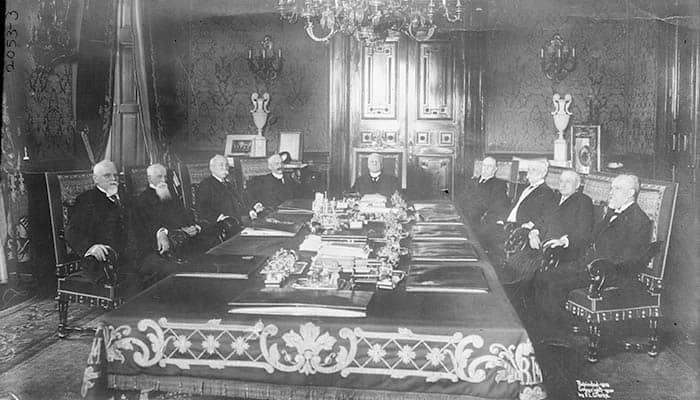 Fotografía del gabinete de Porfirio Díaz