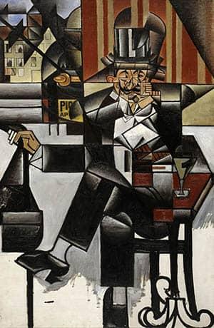 Hombre en el cafe