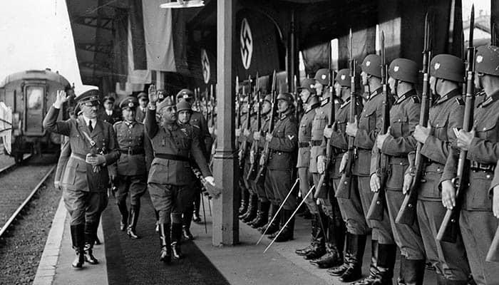 Adolf Hitler y Francisco Franco en la entrevista de Hendaya
