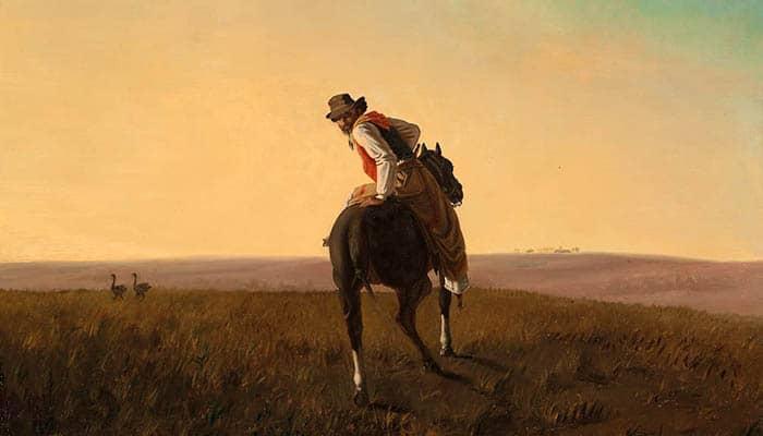 Pintura de un gaucho