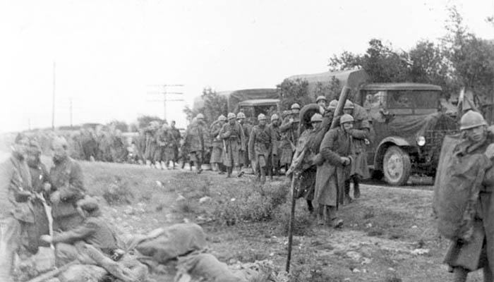 Soldados italianos del Cuerpo de Tropas Voluntarias durante la guerra civil española