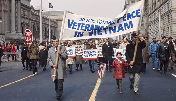 Manifestación contra la guerra de Vietnam en Nueva York