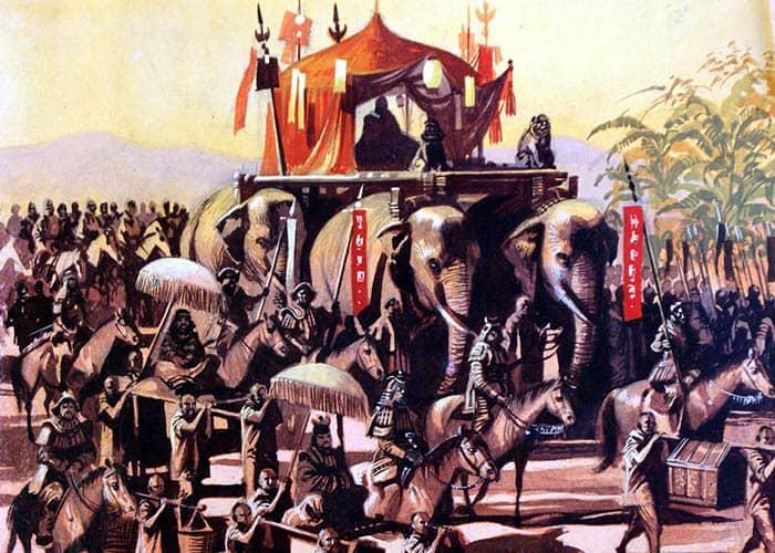 Kublai Kan viaja a Pekín
