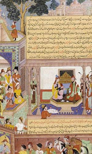 Kublai Khan y su emperatriz entronizados