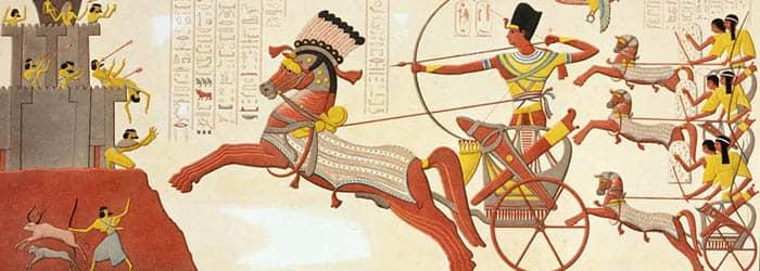 Pintura de la batalla de Qadesh