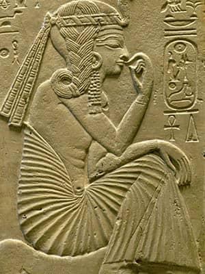 Relieve de Ramsés II cuando era niño
