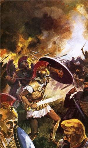 Ilustración de la batalla de las Termópilas