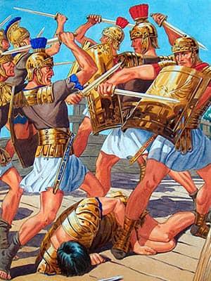 Los 300 espartanos en las Termópilas