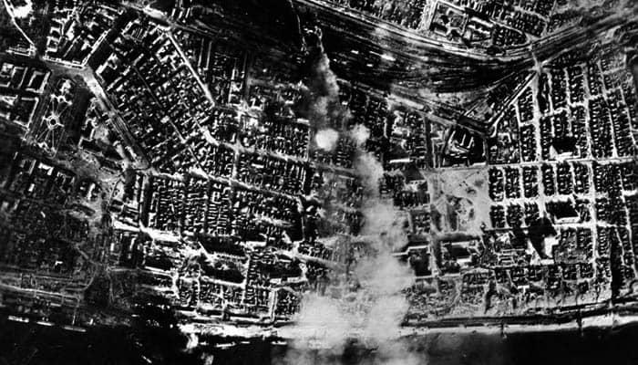Aspecto de la ciudad de Stalingrado tras un bombardeo de la Luftwaffe
