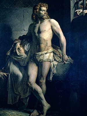 Soldado galo y su hija cautivos en Roma