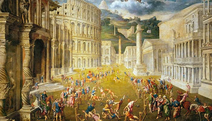 Batalla de gladiadores