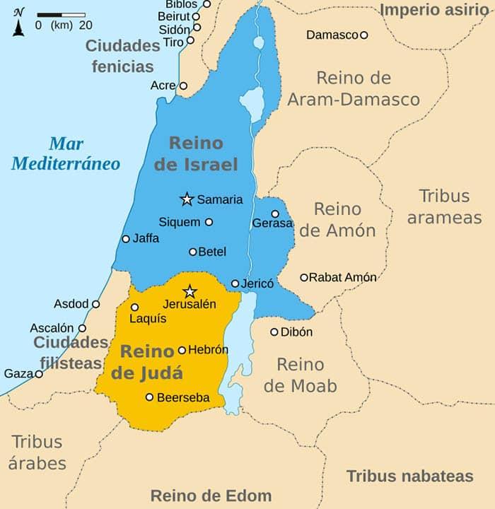 Mapa de los hebreos
