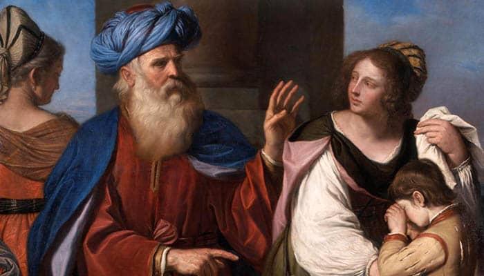 Abraham repudia a Agar e Ismael