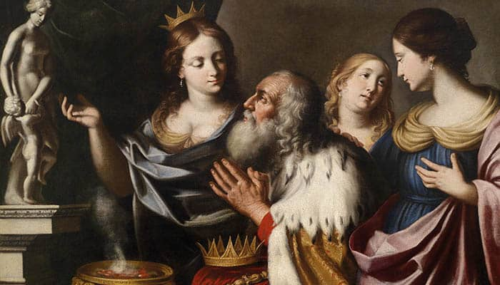 El rey Salomón con sus esposas