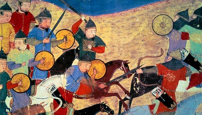 Ilustración de la huida de Kara Nogai Khan