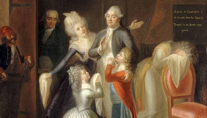 El adiós de Luis XVI a su familia, el 20 de enero de 1793