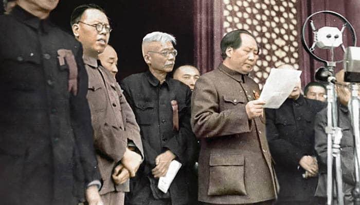 Mao Zedong proclama la fundación de la República Popular China