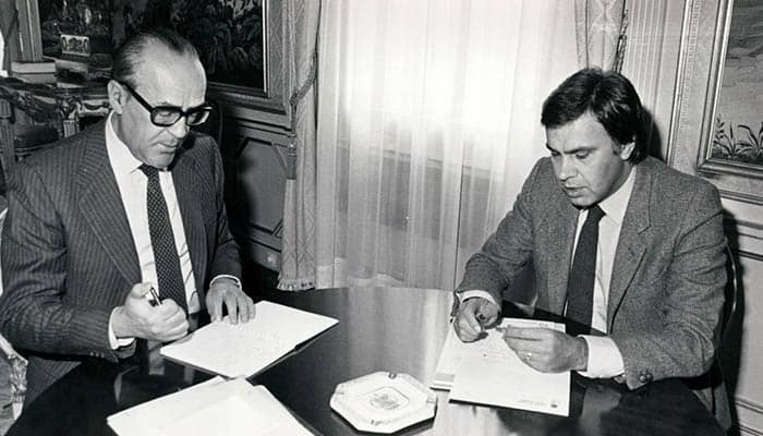 Leopoldo Calvo-Sotelo y Felipe González