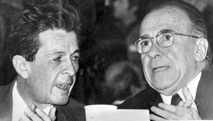 Enrico Berlinguer y Santiago Carrillo